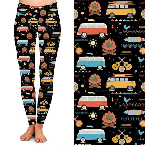 Natopia Deluxe Down By the Campfire Leggings Curvy Plus Size Fits 16-20