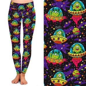 Natopia Deluxe My Favourite Martian Leggings One Size Fits 8-14