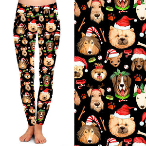 Natopia Deluxe Santa Paws Leggings Kids S/M (4-7 Years)