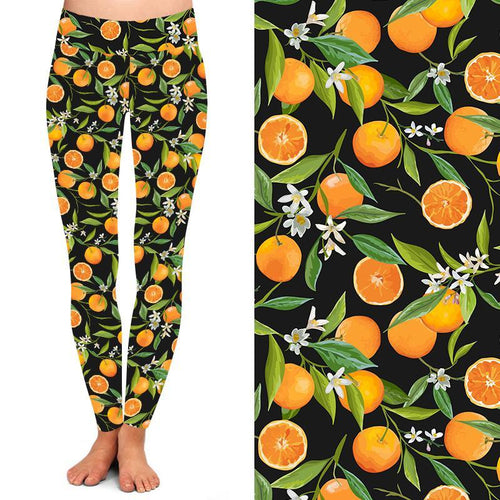 Natopia Deluxe Orange Blossom Leggings Curvy Plus Size Fits 16-20
