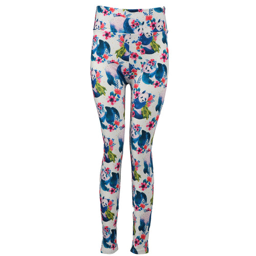 Natopia Ultimate Panda in the Palms Leggings Extra Curvy Plus Size Fits 22-28