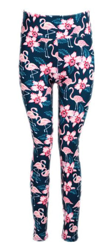 Natopia Ultimate Frolicking Flamingos Extra Curvy Plus Size Leggings Size 22-28