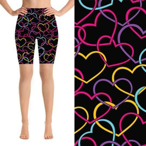 Natopia Deluxe Hearts Entwined Shorts One Size Fits 8-14 - natopia