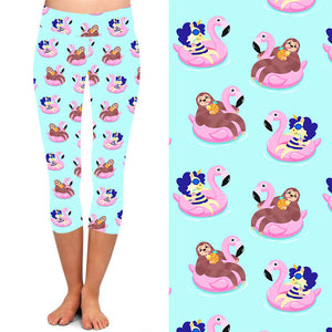 Natopia Deluxe The Unicorn and the Sloth Capri One Size Fits 8-14