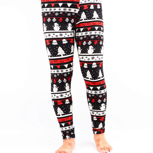 Natopia Super Soft White Christmas Leggings Extra Curvy Fits 22-28
