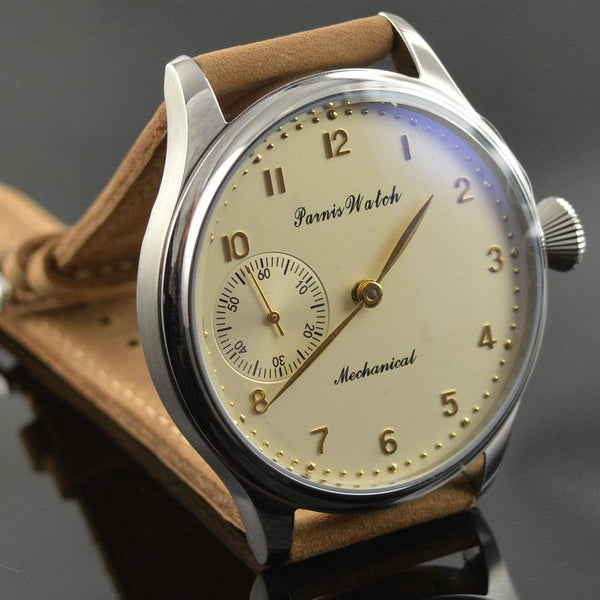 Mechanical hand winding Men's Watch Parnis 44mm