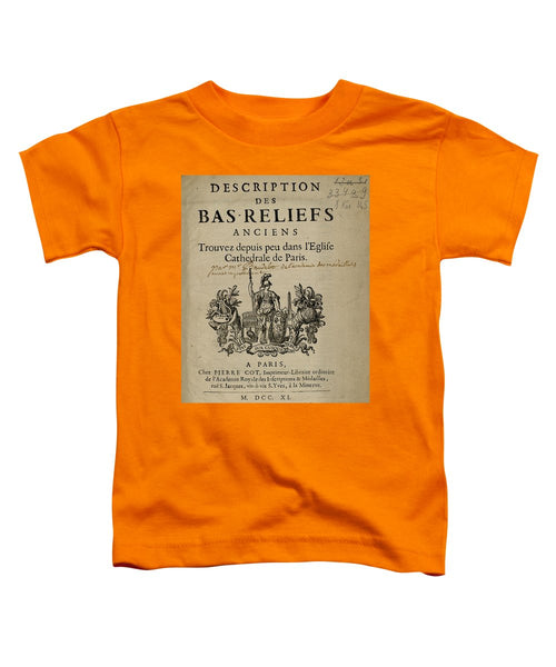 Bas Reliefs - Toddler T-Shirt