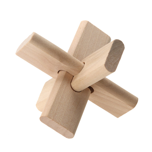 Wooden Luban Lock Puzzle