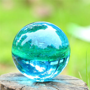 40mm Sky Blue Pure Quartz Crystal Ball with Stand