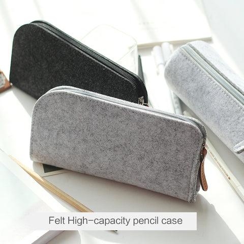 Minimalist felt pencil case