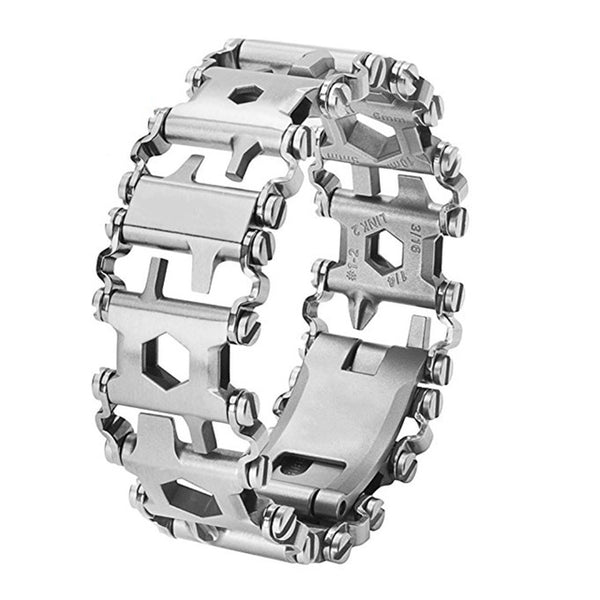 Wearable Stainless Steel Multi-Purpose Wristband