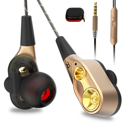 High bass dual drive stereo In-Ear Earphones With Microphone
