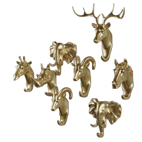 Decorative Animal Hooks for Office or Home