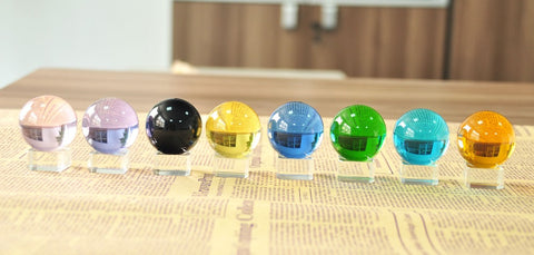 40mm 8 colors Round Transparent Quartz Ball