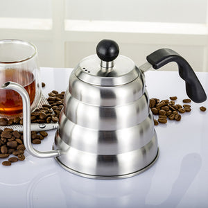 Gooseneck Drip Kettle Coffee Tea Pot Stainless Steel Drip Kettle with Thermometer