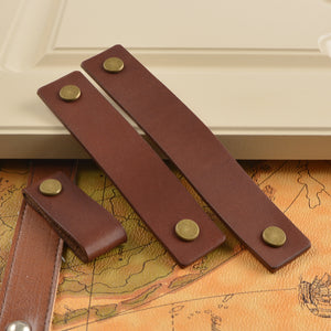 3.75'' 5'' 6.3''  Leather Drawer Pulls
