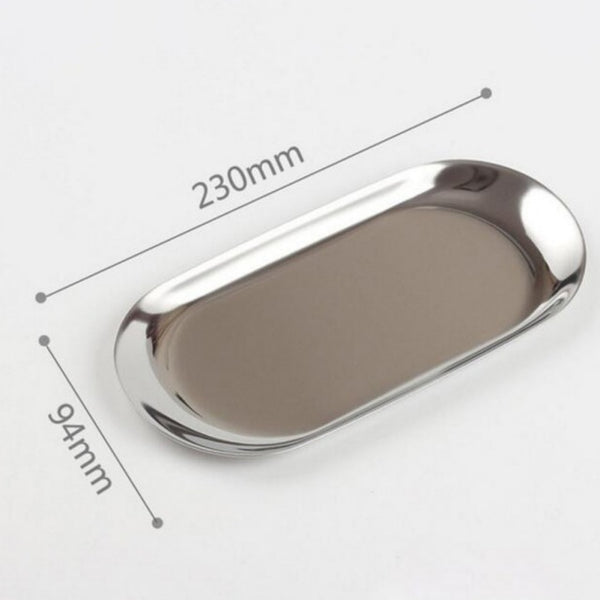 Stainless Steel Oval Plate