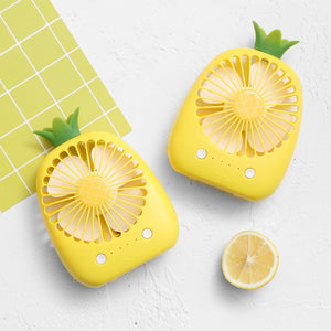 Mini Pineapple Fan 3 Colors USB