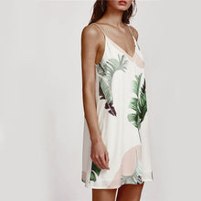 Palm Leaf Dress - White