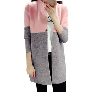 Chic Two-Tone Cardigan