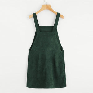 Corduroy Pinafore - Green