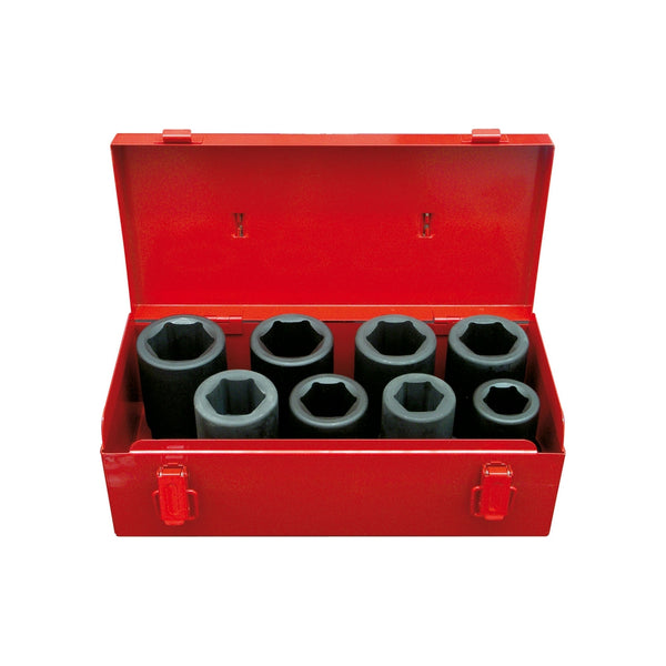 "Set tubulare de impact 1"" PROJAHN, 24-38 mm, 8 buc/set"