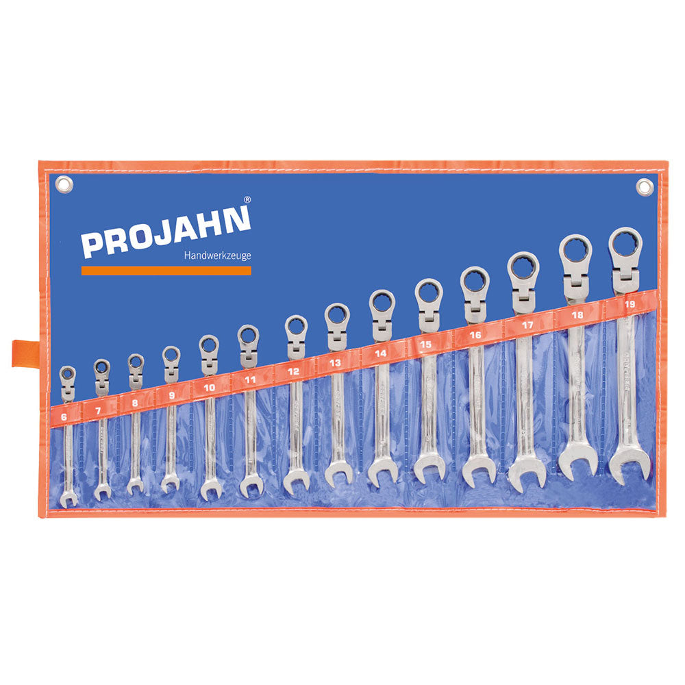 Set chei combinate PROJAHN GearTech flexibila cu clichet 6-19mm 14 buc/set
