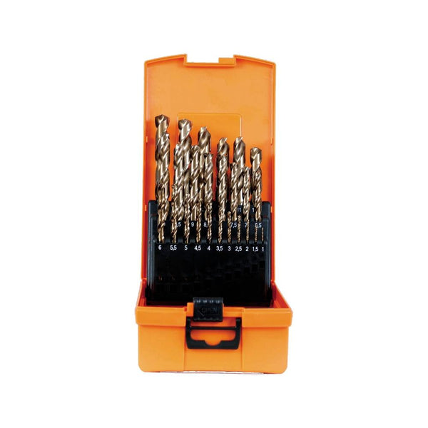 Set burghie metal elicoidale PROJAHN, HSS-Co5% DIN 338 Typ N ECO, 1-13mm, 25 buc/set - sculeshop