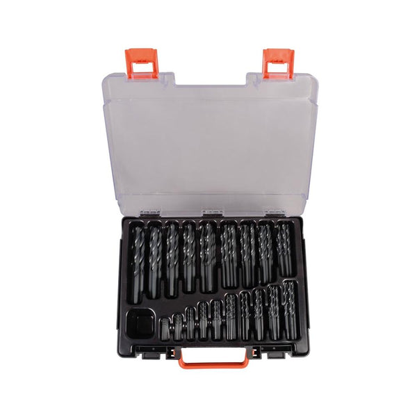 Set burghie metal elicoidale PROJAHN, HSS-R DIN 338 Typ N ECO, 1-10mm, 170 buc/set - sculeshop