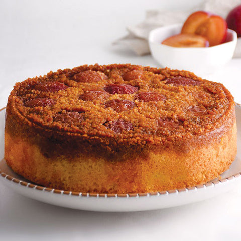 Blood Plum Upside Down Cake