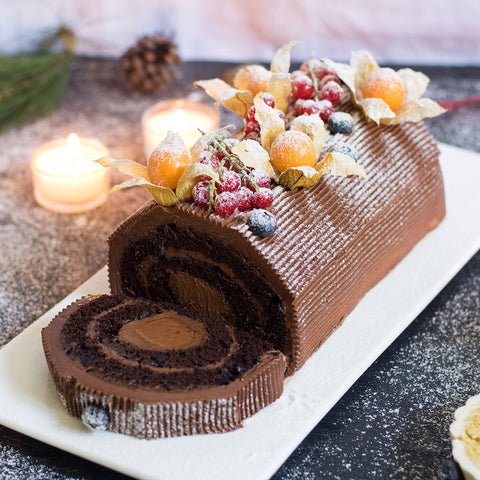 Chocolate Flourless Log Cake | Cedele Market