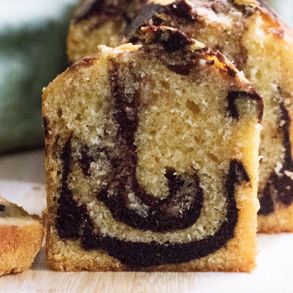 Chocolatey Marble Butter Cake Slice | Cedele Market