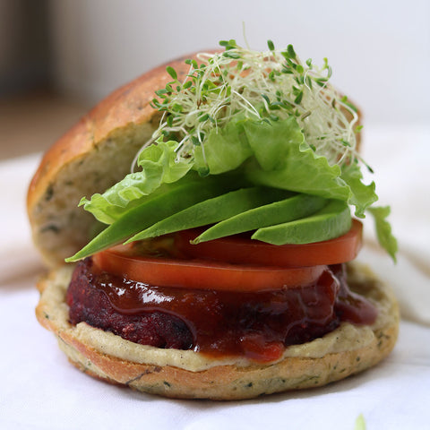 Grilled Beetroot Patty & Avocado Sandwich | Cedele Market