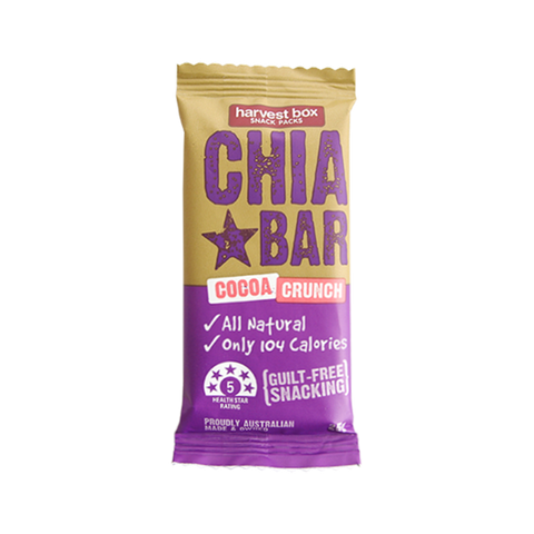 Harvest Box Cocoa Crunch Chia Bar | Cedele Market