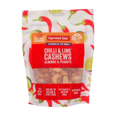 Harvest Box Chilli & Lime Cashews Almonds & Peanuts | Cedele Market