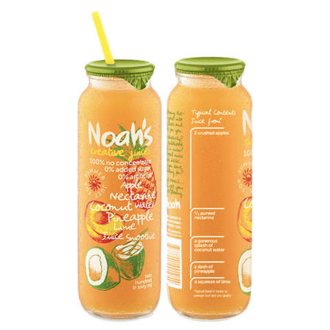 Noah's Apple Nectarine Coconut Water Pineapple Lime Juice Smoothie | Cedele Market