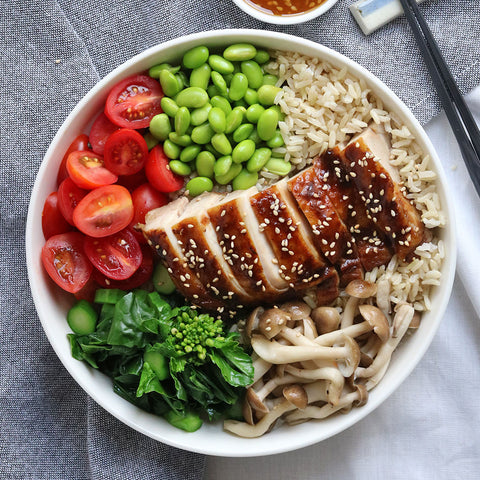 Teriyaki Sesame Chicken Brown Rice | Cedele Market