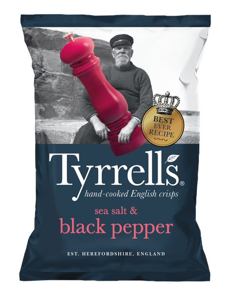 Tyrrells Sea Salt & Cracked Black Pepper Crisps