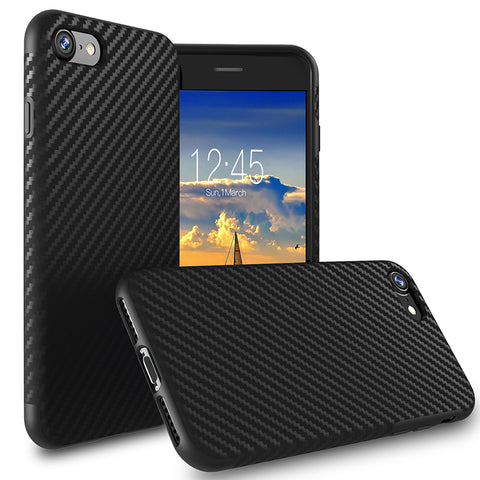 New Carbon Fiber Dirt & Water Resistance Case For iPhone 8