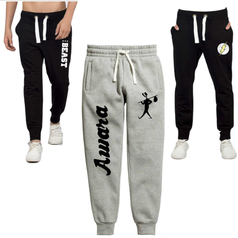 Flash, Beast & Awara combo of 3 Premium Summer Joggers