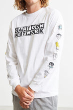 Stylish Cartoon Network Head Long Sleeve Designer White Tee- upto 50% off