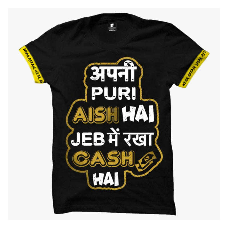Apni Puri aish Cash T-shirt with Rib