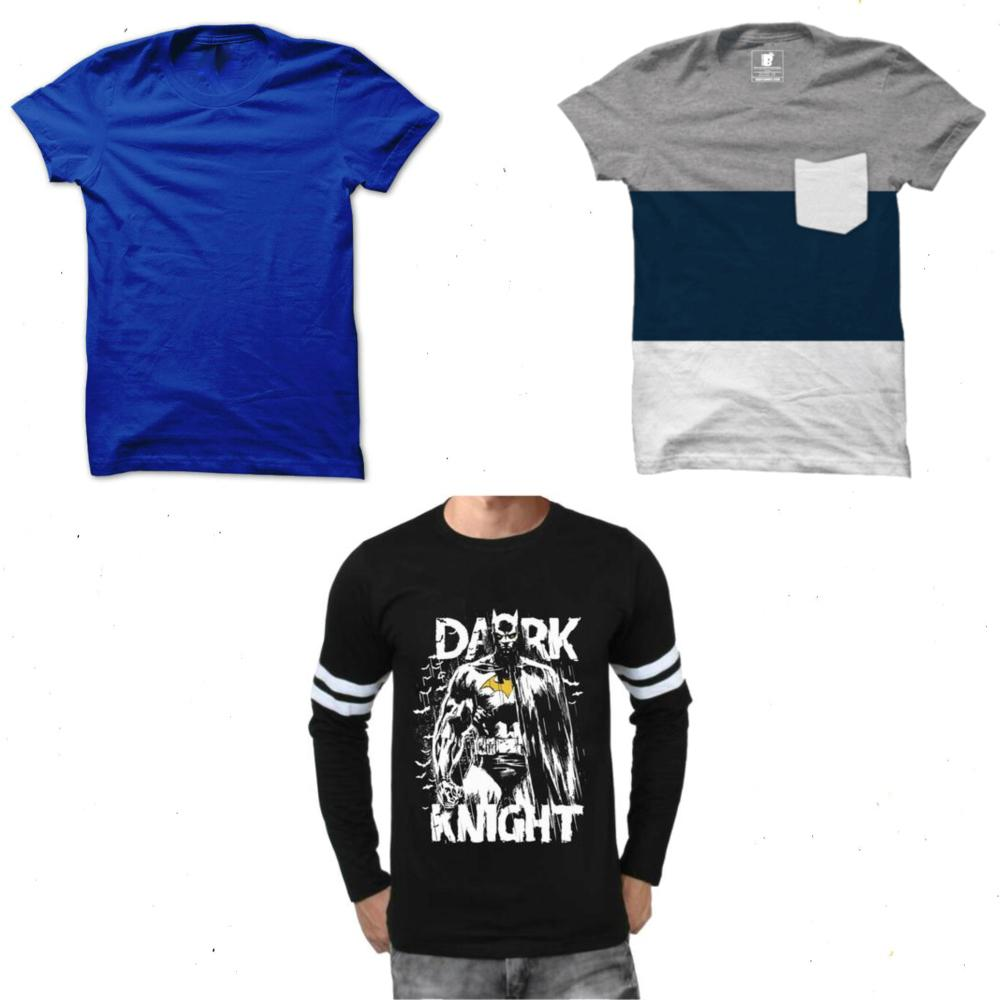 Limited Stock: Batman, Panel Tee, Royal Blue Tee combo