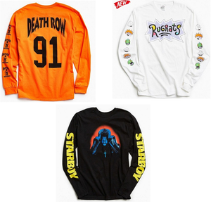 Combo Of 3 T-Shirts : Death Row Orange, Rugrats White & Starboy Black