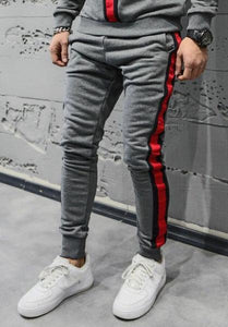 Trend Grey Joggers with Red Strips_Fashion Sale