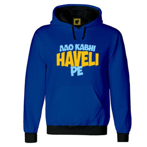 Aao Kabhi Haveli Pe Super Thick Super Warm Premium 3D Royal Hoodie