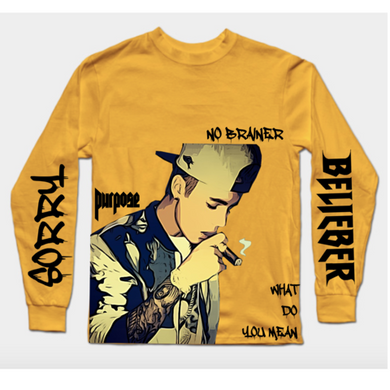 Justin Bieber Long Sleeves T-Shirt