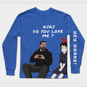 Long Sleeves Drake & Kiki Blue T-Shirt