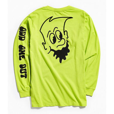 Trend Setter: Odd One Out Long Sleeve Designer Premium Lime Green T-Shirt With Back Print
