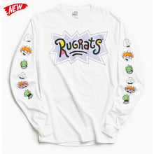 Rugrats Head Long Sleeve Designer White T-shirt Premium Collection